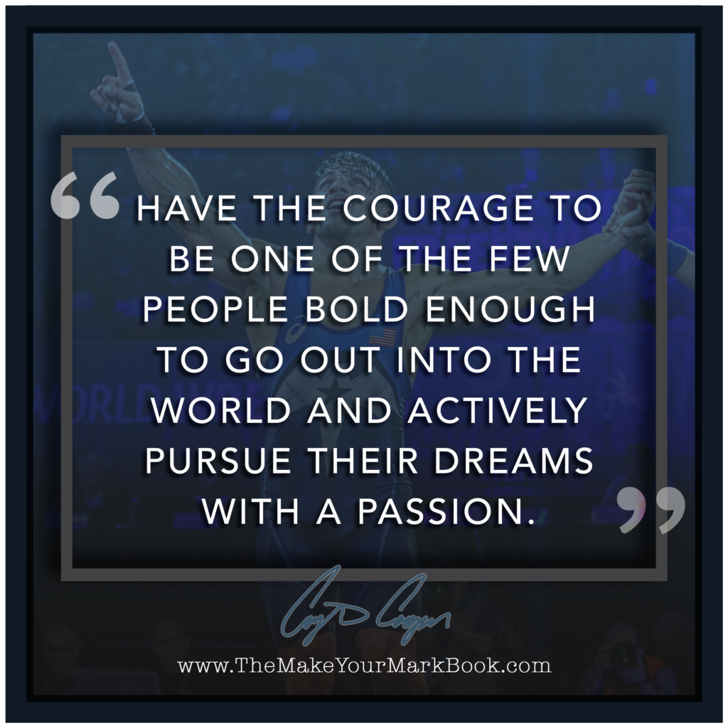 Be Bold enough and Pursue Dreams